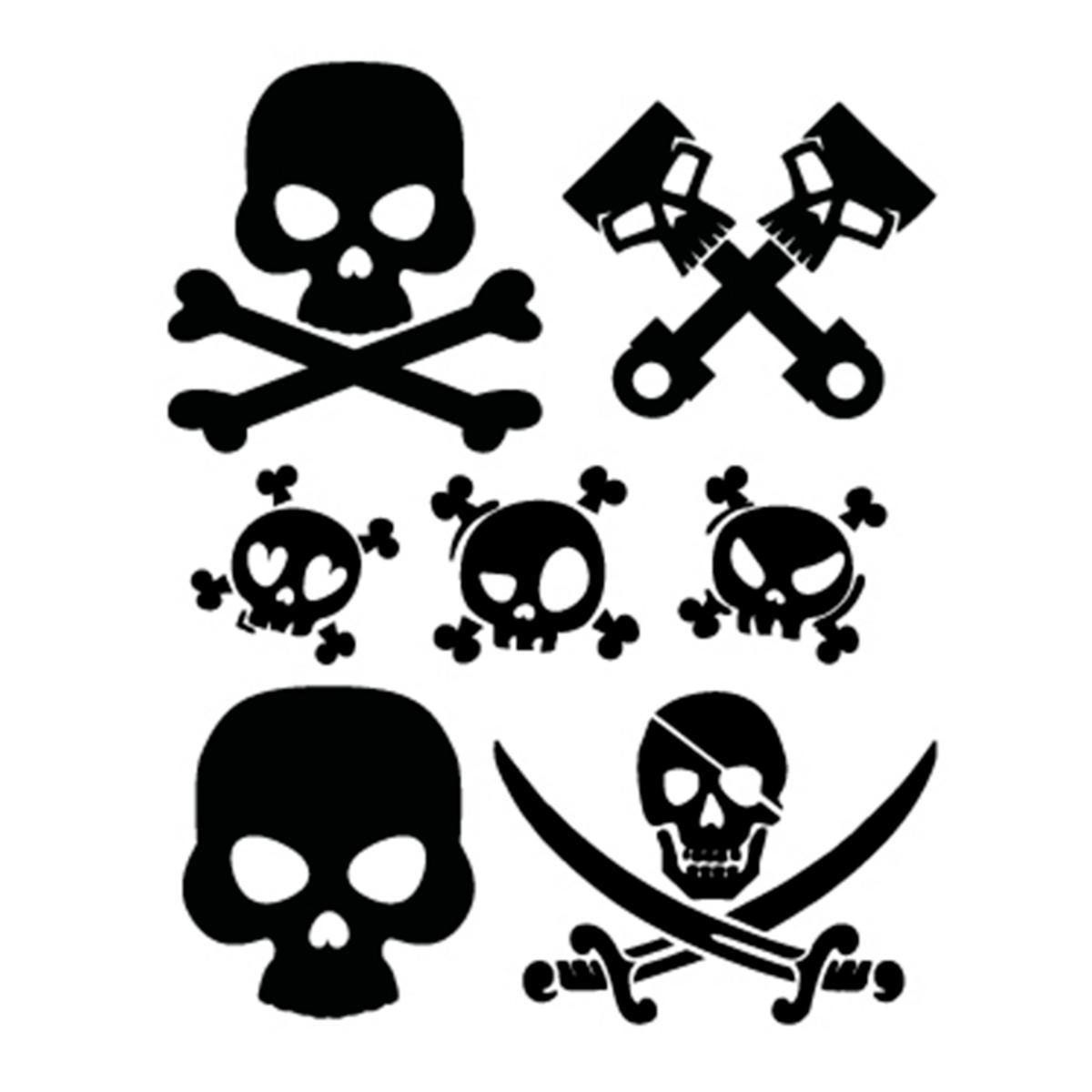 be2e75a4aed5 Sticker prespaced 7 skulls - ADHESIVE - Simoni Racing