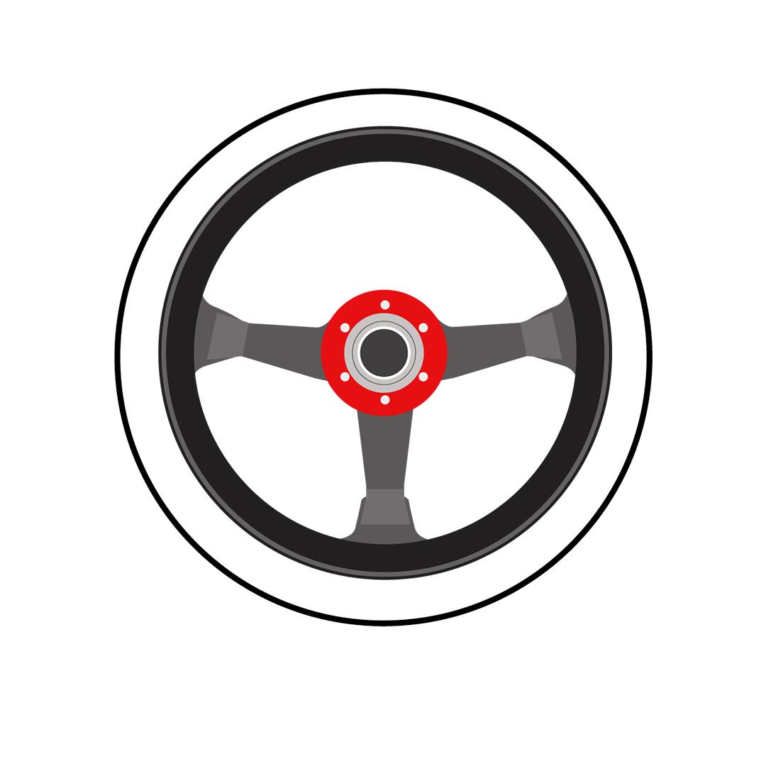 Simoni Racing SLAG Sport Steering Wheel Black Universal Three Spokes
